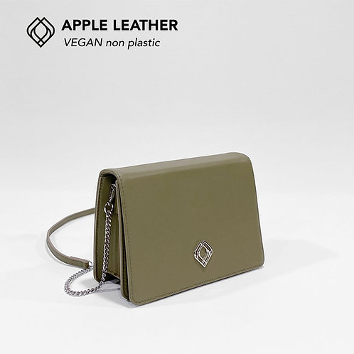 CLUTCH - Apple Leather - Olive Green