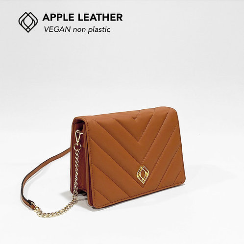 CLUTCH - Apple Leather - Ginger Brown - Stitches