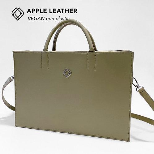 BUSINESS BAG - Apple Leather - Olive Green