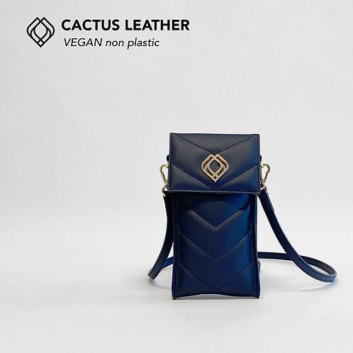 Phonebag Cactus Leather Night Blue