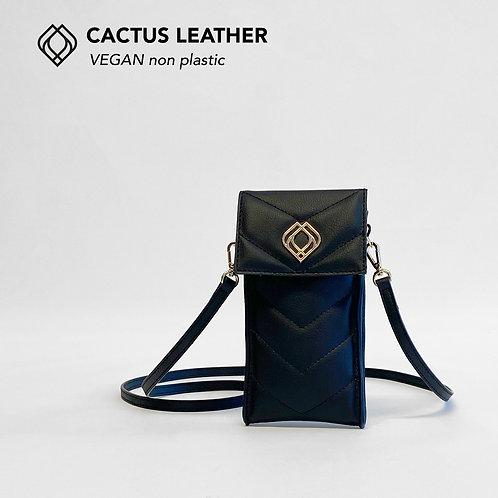 Phonebag Cactus Leather Black