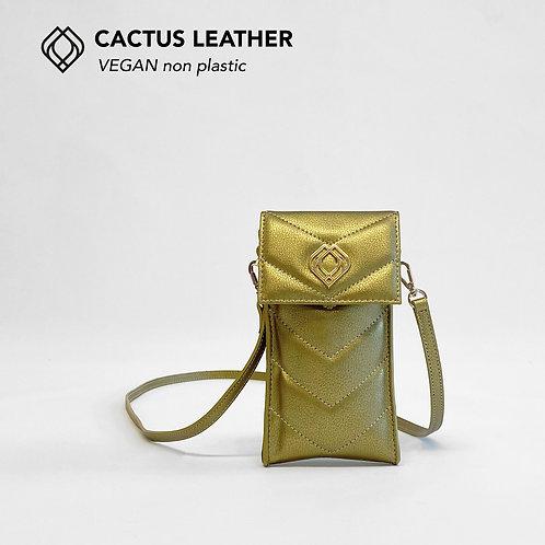 Phonebag Cactus Leather Gold