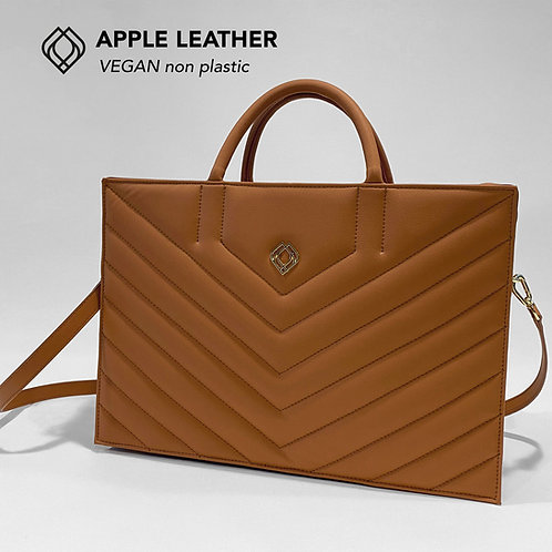 BUSINESS BAG - Apple Leather- Ginger Brown - Stitches