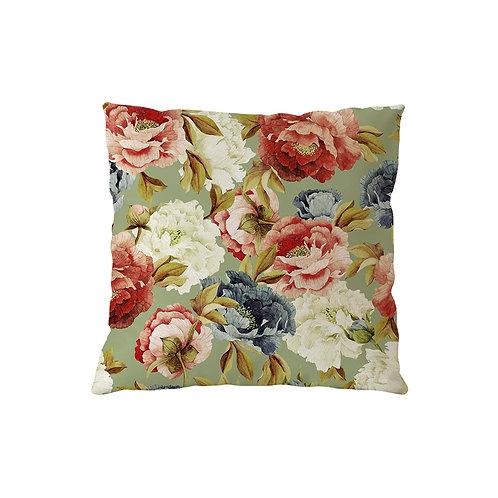 Cushion Roses Olive