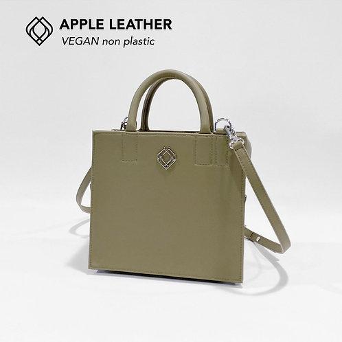 BOX BAG - Apple Leather - Olive Green