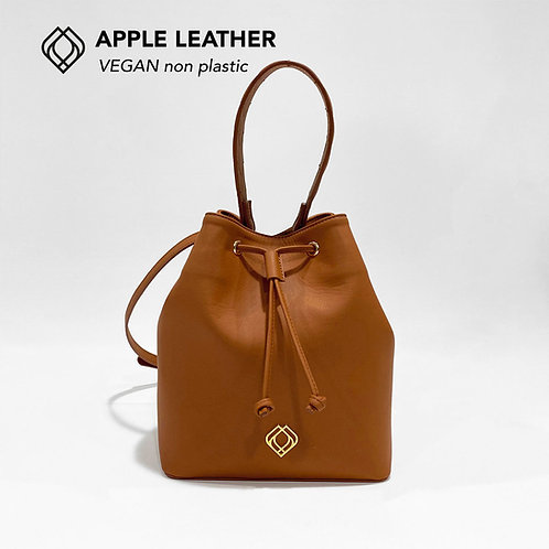 BUCKET BAG - Apple Leather - Ginger Brown - Stitches