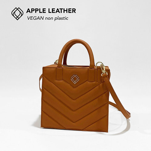 BOX BAG - Apple Leather - Ginger Brown - Stitches