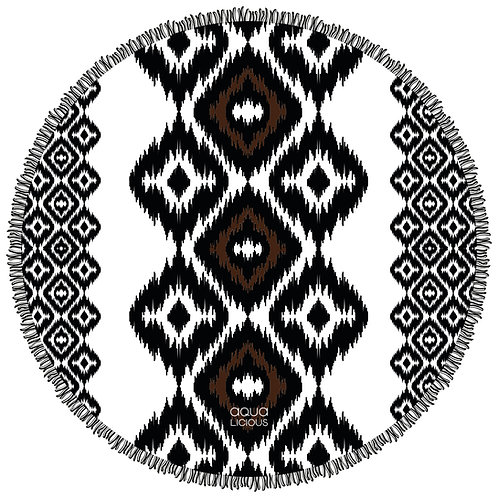 Roundie Towel Aztec Black