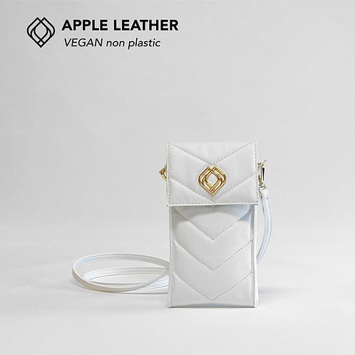 Phonebag Apple Leather White