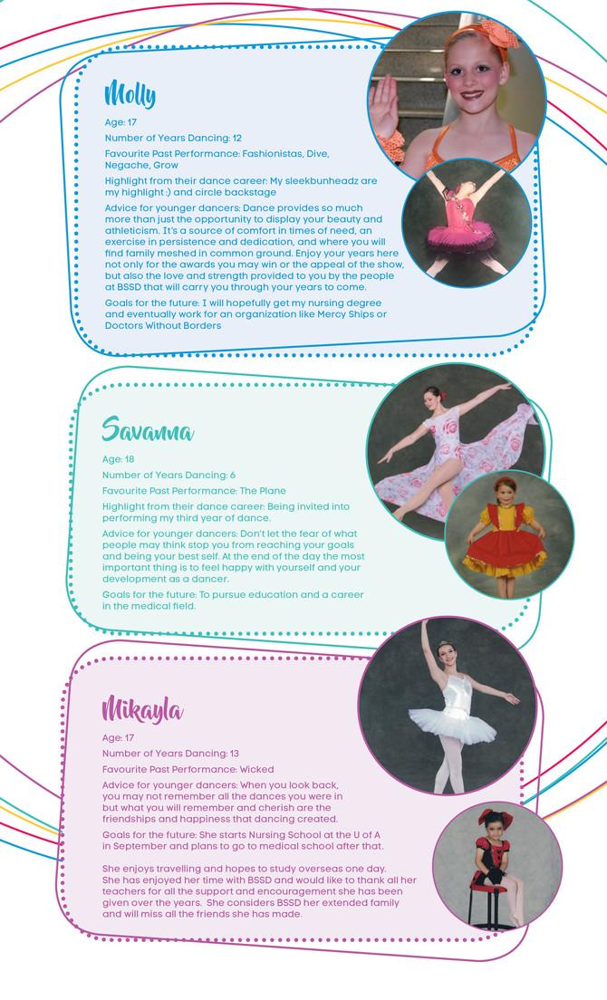 Graduating Dancers