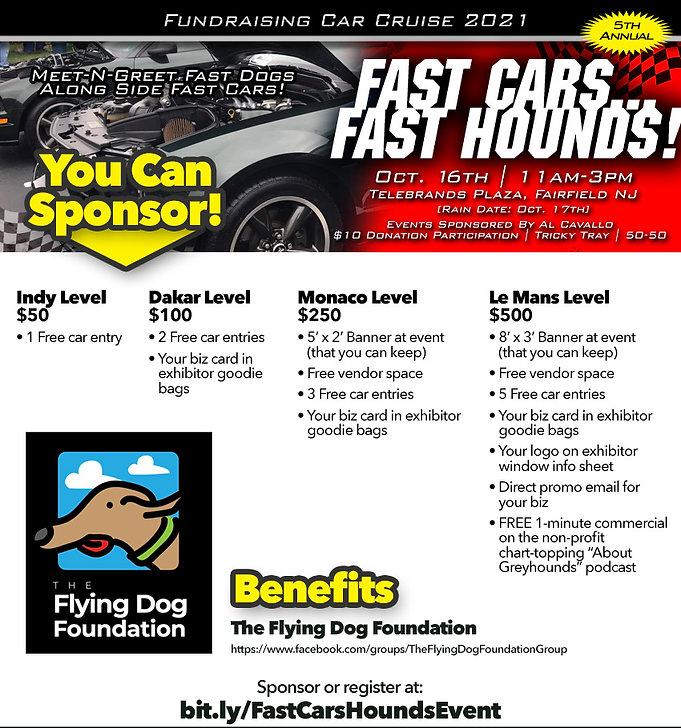 fast cars fast hounds flyer sponsor info
