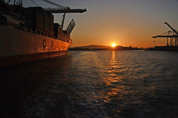 Container ship - Long Beach Harbour