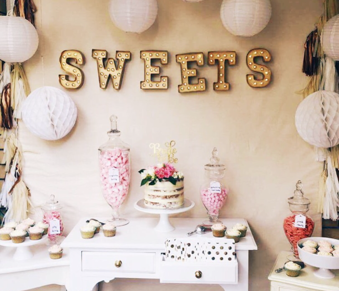 'SWEETS' Marquee Letters