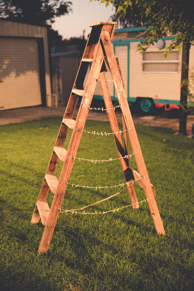 Rustic Ladder With Twine