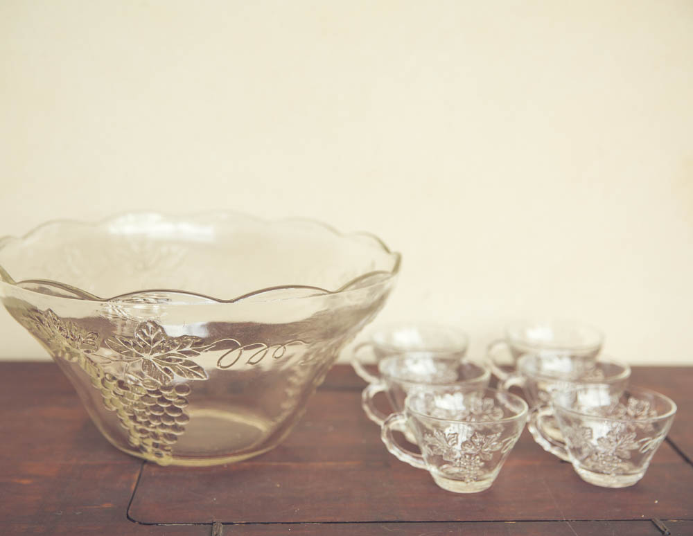 Vintage Punch Bowl