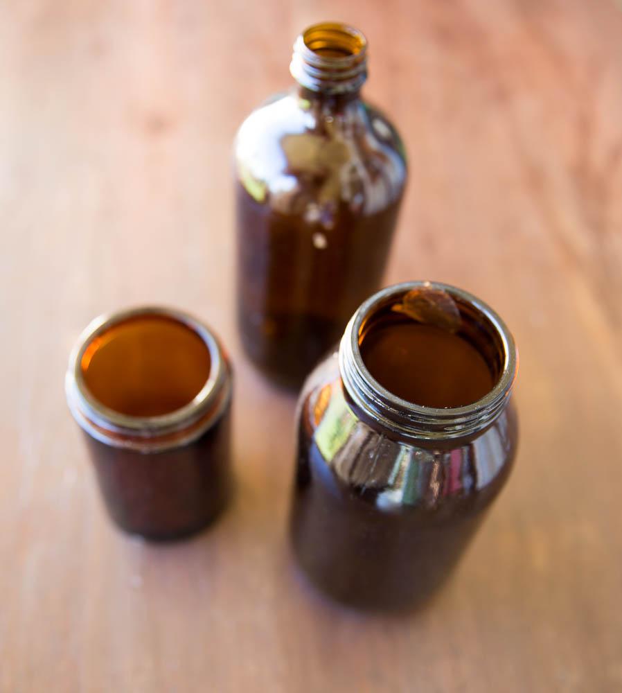 Amber Jars & Bottles