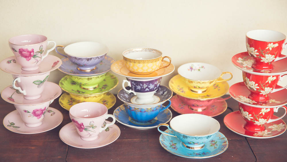 Bright Cups & Saucers