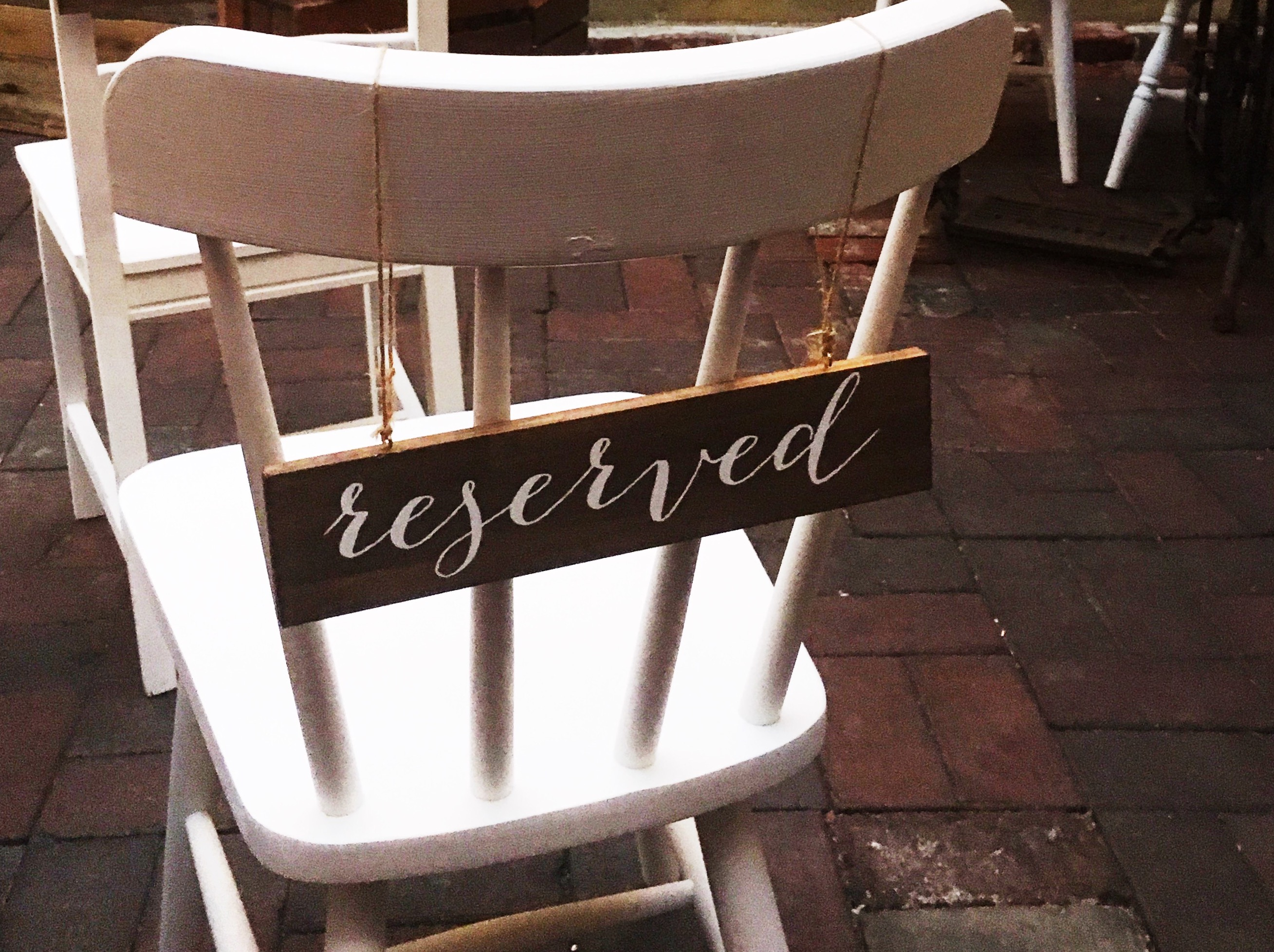 'Reserved' Wooden Signs