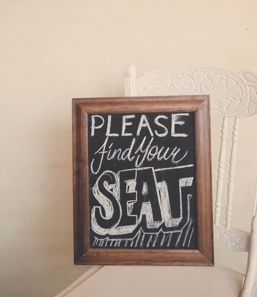 Seating Chalkboard