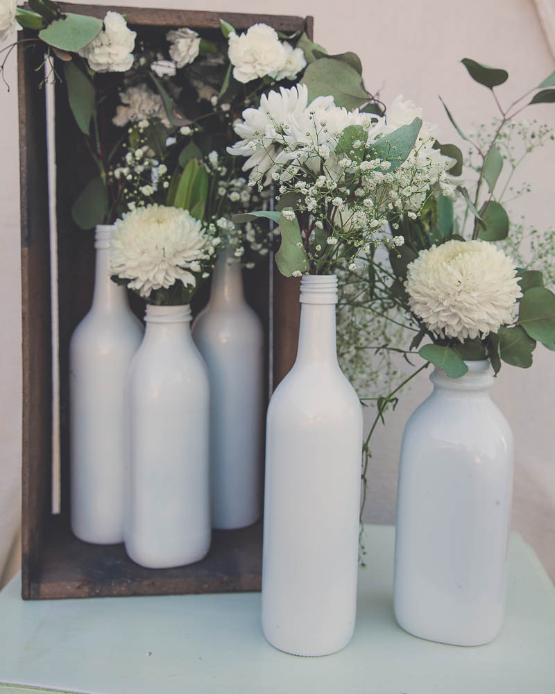 White Bottle Vases