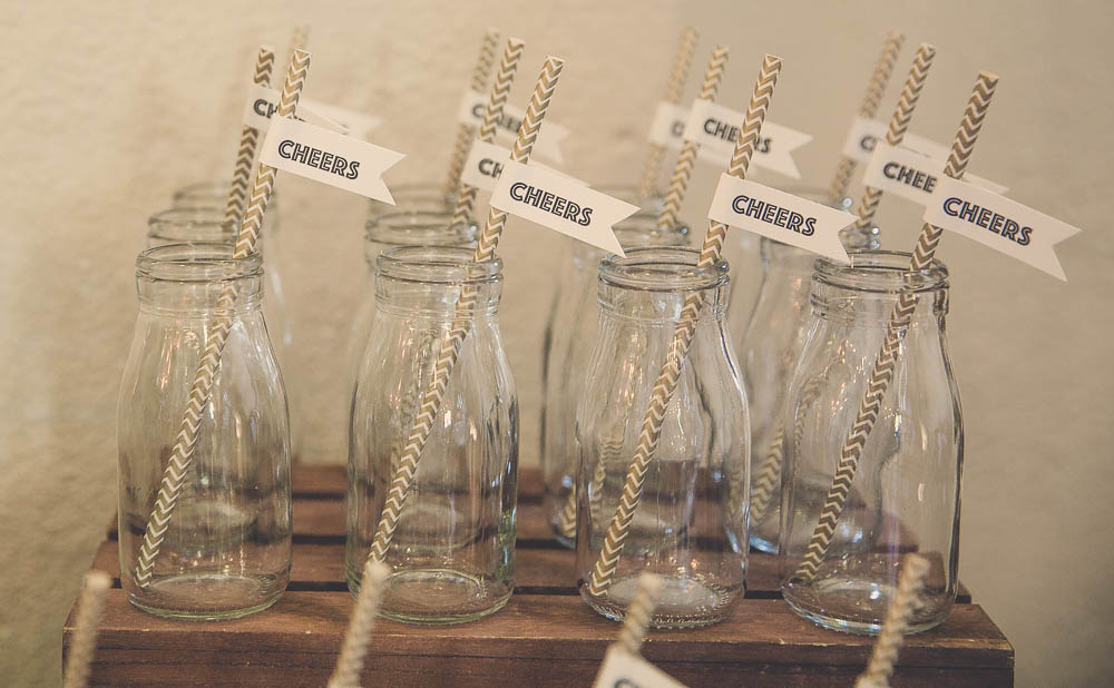 Milk Bottles and Custom Drink Flags