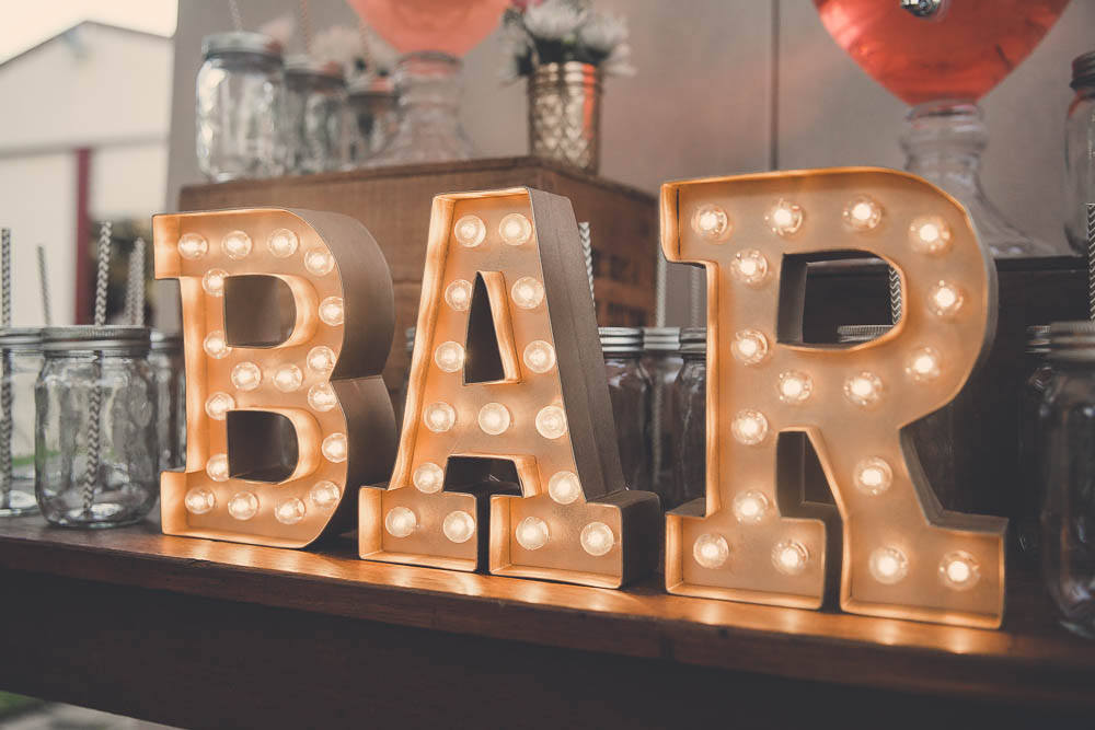 'BAR' Marquee Letters