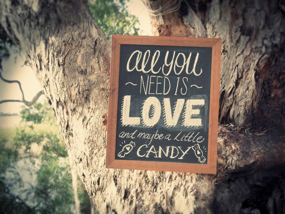 Candy Buffet Chalkboard