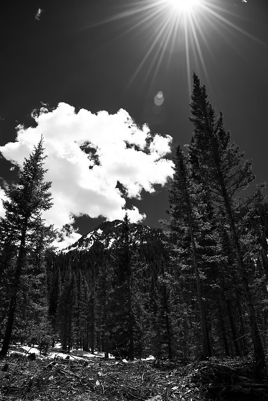 mountains+sky+black+and+white+sun+art+sn