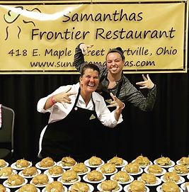 Alex Adams and Samantha's Restaurant Team