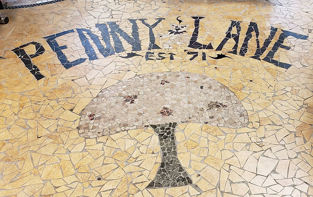 penny lane gifts, mosaic tile, mushroom,grateful dead