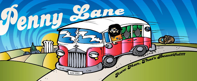 "Penny Lane ""Bus To Freedom"" Sticker"