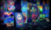 blacklights,blacklight poster,uv,glow room,glow posters,3d,peace sign