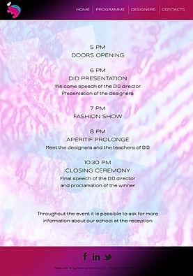 Identity Fashion Show Programme