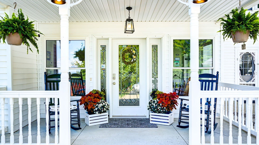 The Brindle and Blonde Porch