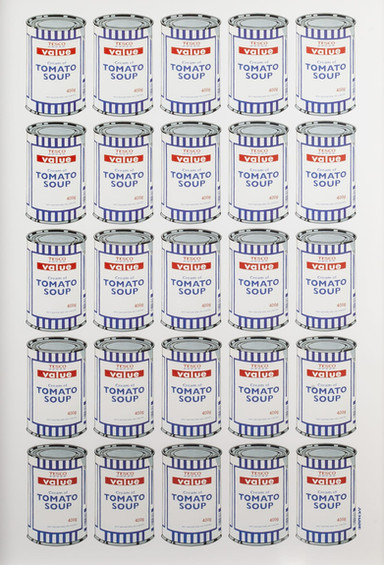 Tesco Soup Cans (Sold)
