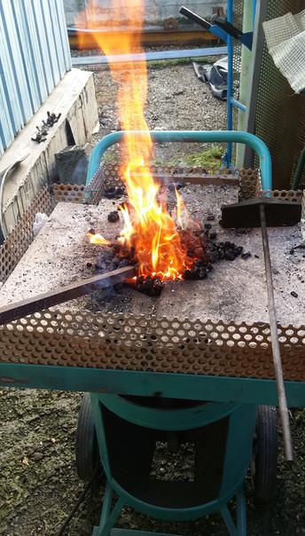 Seconde forge à charbon
