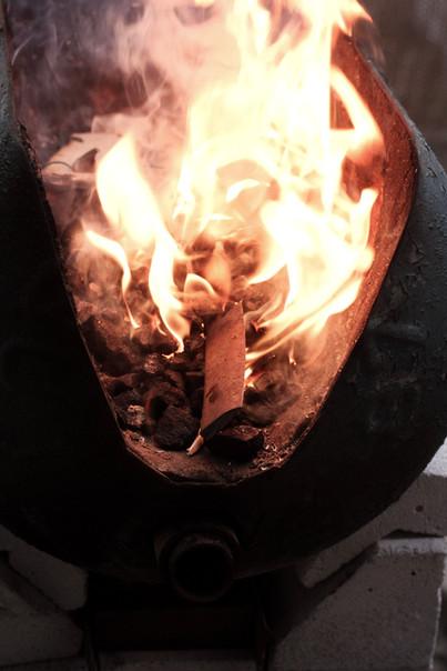 Démarrage du feu