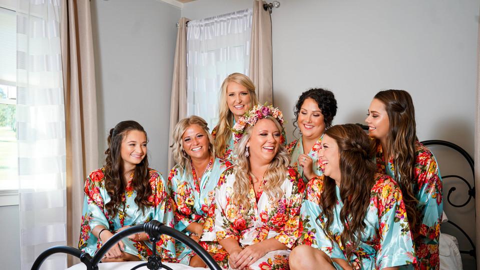 Bridesmaids and Asheville NC wedding pho