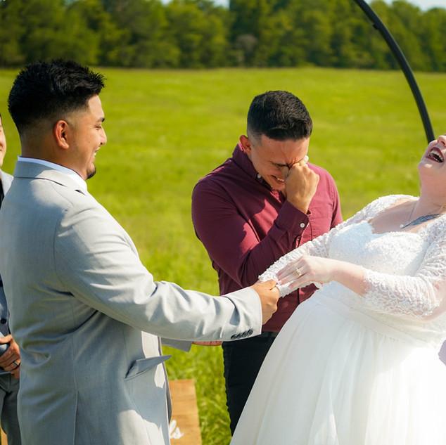 Weddings at Red Cedar Farm Gratine Falls NC