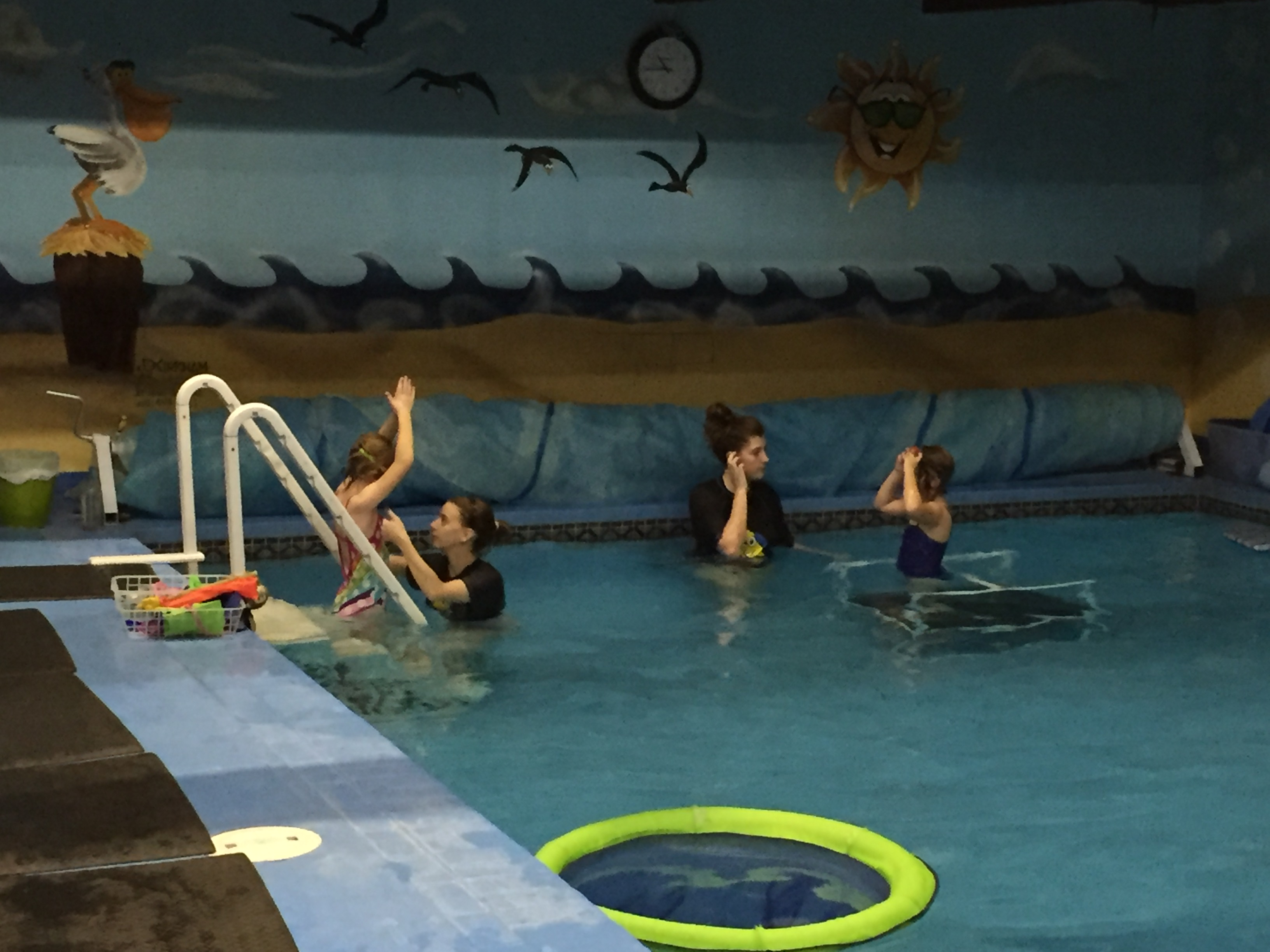 Swimming rotation at Little Fins
