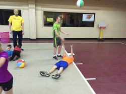 Setting drill for volleyball skills