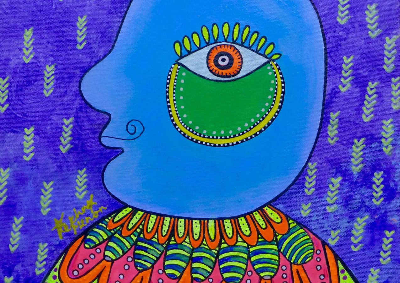Rekha Menon_Identity_30cm x 30cm_Acrylic