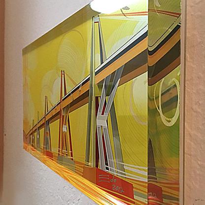 Acrílico - Lago sobre el puente/Mañana