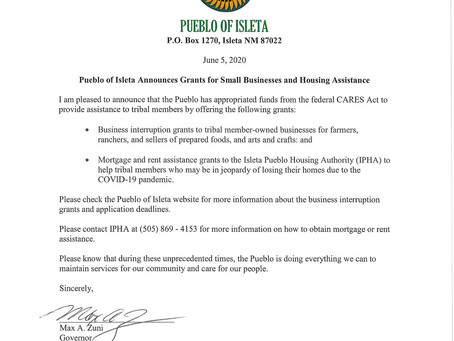 POI Small Business and Housing Assistance