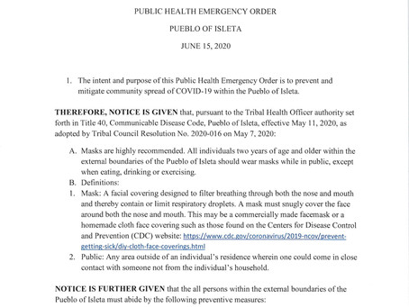 From Health Center - Public Health Order