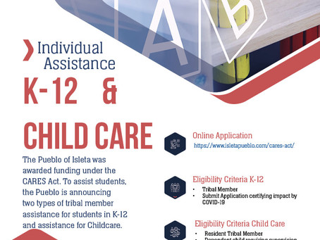 Individual Assistance K-12 & Childcare