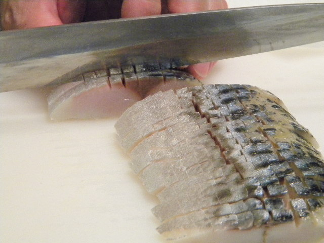 Shimesaba (Boston Mackerel) Sashimi