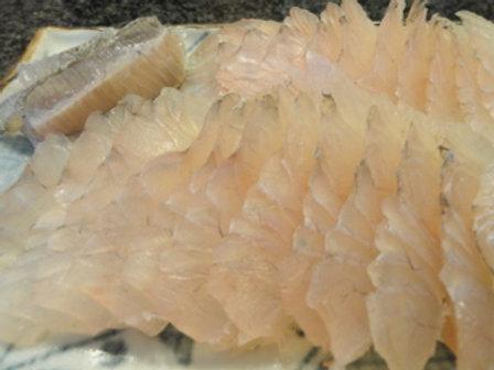 ヒラメ昆布締 Flounder Kobujime (200-250g)