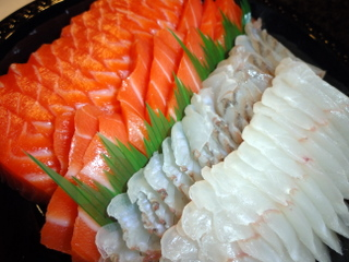 Salmon and Flounder Sashimi