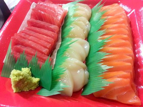 Tuna, Scallops, Salmon Combo